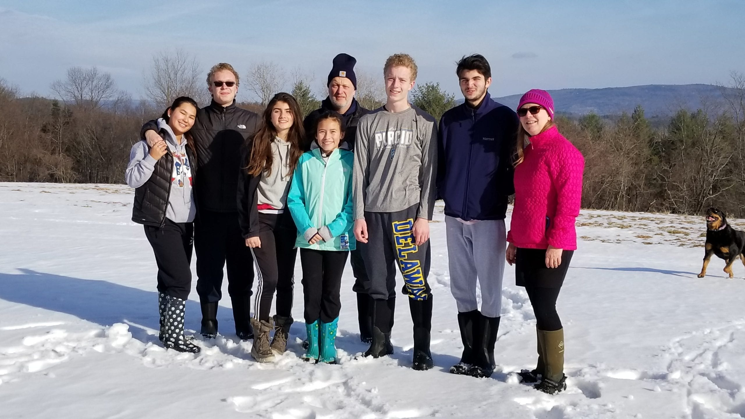 family with exchange students