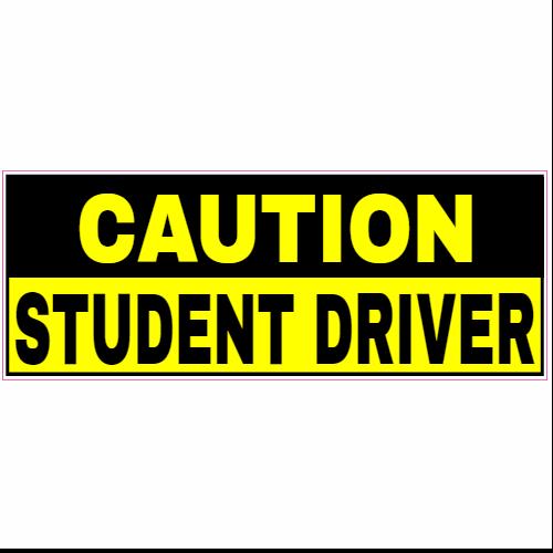 caution student driver